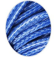 Wax koord 1mm Middel Blauw