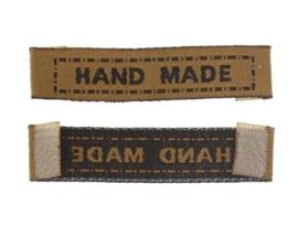 Zand Kleurige Stoffen Handmade Labels 4,5 cm (5 Stuks)