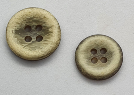 Beige Bruine Knoop 15 &18 mm