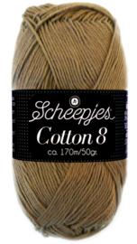 Scheepjes Cotton 8 nr 659 Licht Bruin