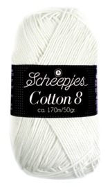 Scheepjes Cotton 8 nr 502 Wit