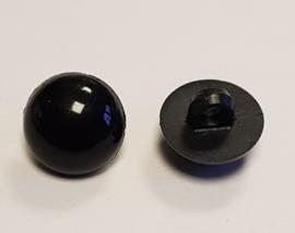 Zwarte Half Ronde Ogen Knoopjes 13mm