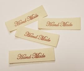 Katoenen Labels Hand Made 3 (5 stuks)