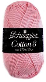 Scheepjes Cotton 8 nr 654 Oud roze