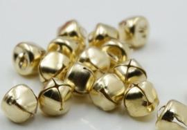 Goudkleurige Belletjes Bel 13mm (5 stuks)