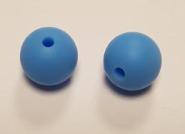 Blauwe Silicone Kraal Kralen 12mm