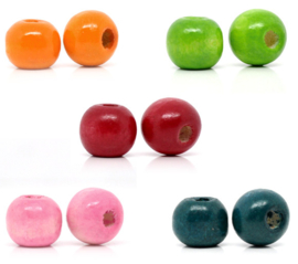 Ronde Gekleurde Kralen 10mm (20 stuks)
