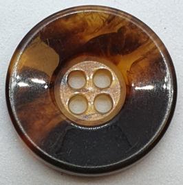 Donker Bruine Knoop 22mm