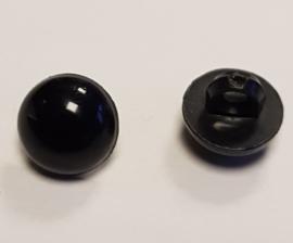 Zwarte Half Ronde Ogen Knoopjes 8mm II