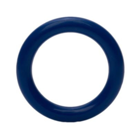 Plastic ringetjes - 40 mm - Donker Blauw