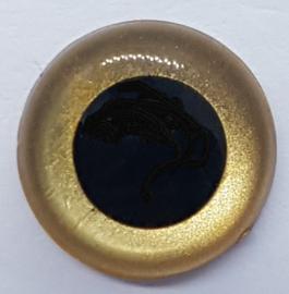 Veiligheidsogen Goud 12mm (2 stuks)