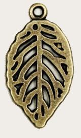 Blaadje Brons Kleurig 15 x 27 mm