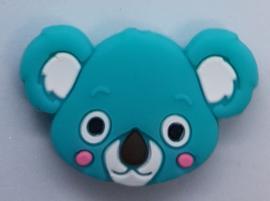 Siliconen Kraal Koala Groen Blauw