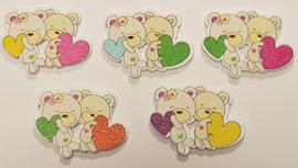 Beren Knopen met hartjes