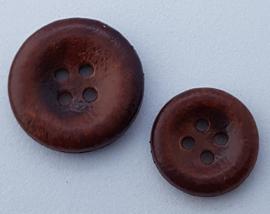 Bruine Knoop 15 & 20 mm
