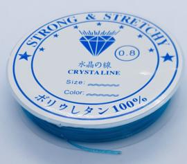 Elastiek 0,8 mm Blauw (8-9 Meter)