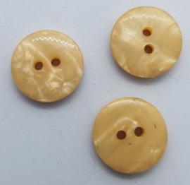 Creme Kleurige Knoop (2 gaatjes) 15mm