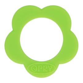 Opry Siliconen Bijtring Bloem 45mm - Groen