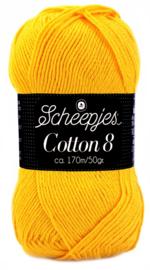 Scheepjes Cotton 8 nr 714 ZonneGeel