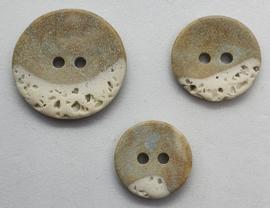 Steenachtige Grijs Bruine Knoop 15, 17, 22 mm