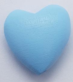 Hartjes Kraal Licht Blauw 22mm
