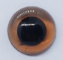 Veiligheidsogen Doorzichtig Bruin 6mm  (2 stuks)
