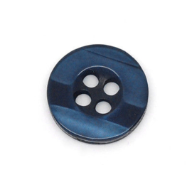 Donker Blauwe Knoopjes met 4 gaatjes 11mm (10 stuks)