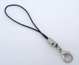 Zwarte Telefoon hangers sleutelhangers 6,5 cm  (5 Stuks)