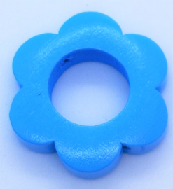 Bloemetjes Kraal Blauw 26mm