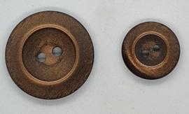 Brons Kleurige Glimmende Knopen 18 & 27mm