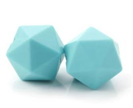 Hexagon Kraal Turquoise 14mm