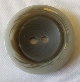 Grijze Knoop 23 mm
