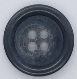 Zwarte Knoop met 4 Gaatjes 20mm