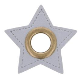 Nestel op grijs Skai-Leer 11mm brons ster
