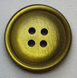 Olijf Groene Knoop 19mm