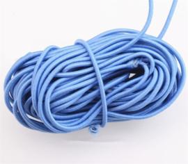 2mm Koord Elastiek Licht Blauw - 1 Meter