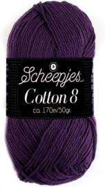 Scheepjes Cotton 8 nr 721 Donker Paars