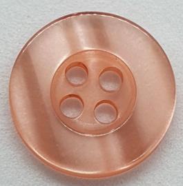 Zalm Kleurige Knopen 15mm
