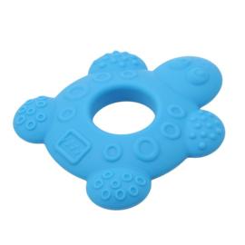 Siliconen Bijtring - Schildpad Blauw