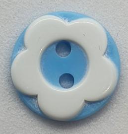 Bloemen Knopen Licht Blauw 12mm