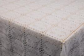 Wit kanten tafelzeil vierkant