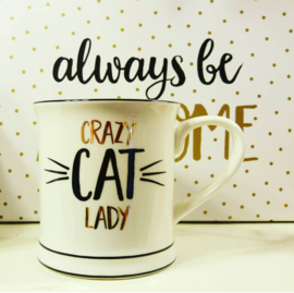 Beker Crazy Cat Lady