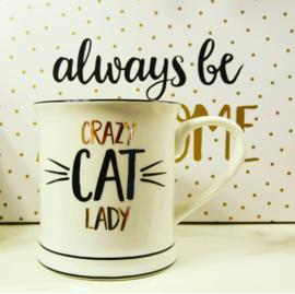 Beker Crazy Cat Lady