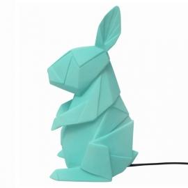 Origami lamp Konijn mint