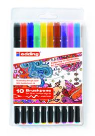 Brushpennen edding set