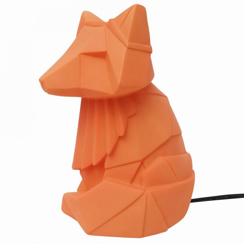 Origami lamp Vos oranje