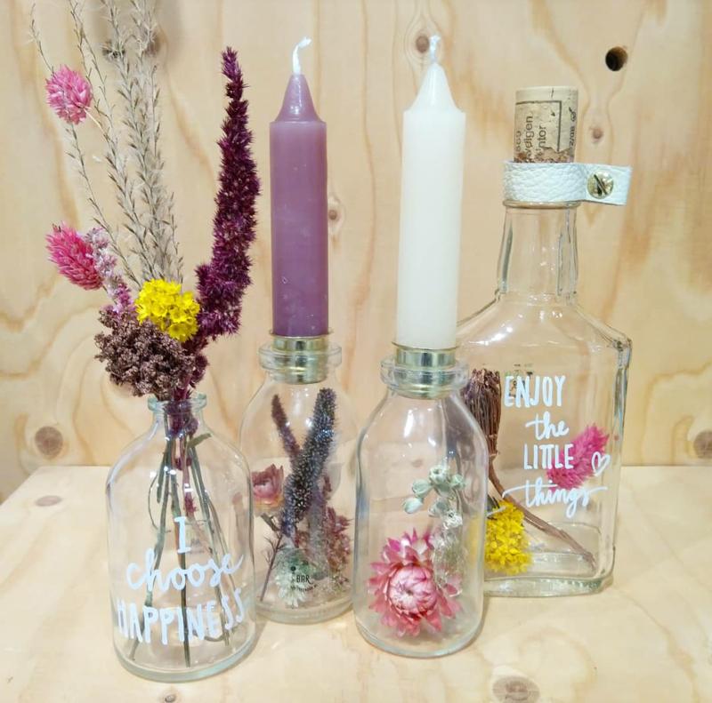 Droogbloemen arrangement maken zondag 24 mei