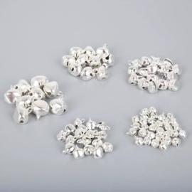 Belletjes zilverkleurig 10 mm per 8 stuks