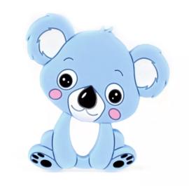 Koala siliconen bijtring blauw