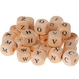 Letter kralen van hout 12 mm